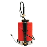Birchmeier backpack sprayer with brass cone tip.