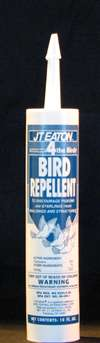 J T Eaton - 4 The Birds - Clear, non-poisonous bird repellant gel for use with caulking gun; also available as a liquid. 12 x 10 oz tubes/box