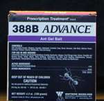 Advance 388B Ant Gel - Controls ants, including acrobat, allegheny, Argentine, bigheaded, cornfield, crazy, ghost, harvester,little black, odorous house, pavement, pharaoh, pyramid, whitefooted, thief and honey