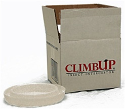 "The original ClimbUP that will hold most bed legs and is low enough to go under furniture skirts. Round, 1"" tall, 4.25"" inner well, 7"" diameter."