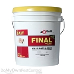 Final Soft Bait is a powerful single feed anticoagulant bait that contains Brodifacoum.