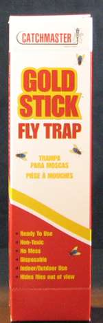 Catchmaster Gold Stick Fly Trap is perfect for those who prefer inconspicuous fly control. Use in homes, garages, offices, kitchens, laboratories, stables, barns and inside garbage cans or containers. Will attract multiple species.
