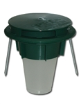 Rockwell - Green In-Ground station for baiting,  trapping  & monitoring crawling insects & slugs. Starter box comes with 12 complete units with cups, feeding sponges and anchors. Replacement cups available.