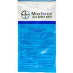Bayer Maxforce fly spot bait packets.