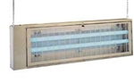 The AG-241 Insect Electrocutor is useful as both a wall mount design and a ceiling suspended light trap.