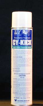 BASF -Long lasting residual control with quick knockdown. CyKick Pressurized is effective against of crawling insects and is labeled for indoor, outdoor and food handling areas. Excellent knockdown and residual properties - Broad spectrum activity.