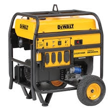 "DeWalt generator - 14000 watts of peak power, 11700 watts of continuous power. Honda engine, electric start, 10 gallon gas tank. 13"" pneumatic wheel kit and battery included."