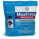 Due to Fipronil and its accelerated Domino Effect kill, Maxforce Roach Bait Stations start to kill roaches in just eight hours. Works with small cockroaches such as Brown-banded, and German (Does not work with oriental roaches).
