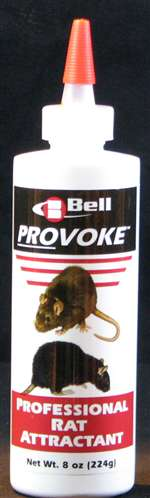 Even the most finicky mouse will have a hard time resisting Bell's new mouse attractant, PROVOKE Professional Mouse Attractant. Developed by the same experts that formulate Bell's highly effective baits, new PROVOKE is the first and only mouse attractant.