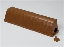 Kness Mfg - cover is uniquely designed for rodent control in common areas.  Snap-E covers keep traps and catch out of sight, keeping children and pets away from rodents and traps.