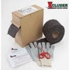 Xcluder Starter Kit includes: A Single roll of Xclulder (4'x10'), dispenser box, gloves, safety shears, safety installation instructions. Great for filling cracks, crevices, plugging holes and weeps.